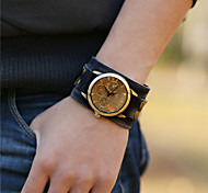 Men's Alloy Leather Handcrafted Vintage Bracelet Table Wrist Watch Cool Watch Unique Watch