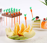 ensemble de forme 9carrot fruits choix de collation cuisine du parti cake dessert fruits fourchettes