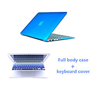 "Crystal Clear Full Body Case and Keyboard Cover Flim for Macbook Air 11.6""  (Assorted Colors)"