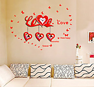 Modern Style Love Theme Wall Clock - Red