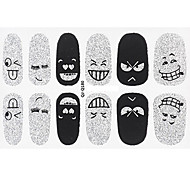 Smiling Face Nail Art Glitter Sticker