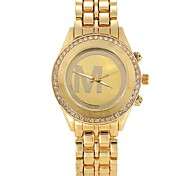 Women Watches Gold Watch Women Fashion Alloy Crystal Letter Quartz Watch