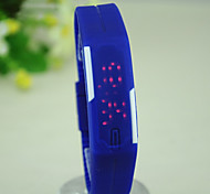 Unisex Couple European Style Fashion Mini Silicone Bracelet Watch