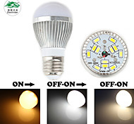 Zweihnder E27 3W 280LM 3000-6000K 12x5730 SMD Dual Color Temperature Bulb Light (new products,AC 85-265V,1Pcs)