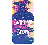 Summer Story Pattern PC Material Phone Case for iPhone 4/4S