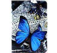 Schmetterlingsmuster PU-Leder Ganzkörper-Fall mit Ständer für iPad mini 1/2/3