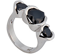Size 6/7/8/9/10 High Quality Women Black Sapphire Rings 10KT White Gold Filled Ring