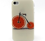 Bicycle Pattern TPU Material Soft Phone Case for iPhone 4/4S