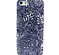 Flowers Pattern TPU Material Phone Case for iPhone 5/5S