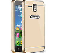 HHMM Metal Aluminum Frame Plastic back Cover mobile phone Cases For Lenovo A8 A808T (Assorted Colors)