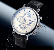 Men's Business Style Calendar  Dial Leather Band Quartz Wristwatch