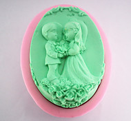 The Bride and Groom Silicone Soap Mold