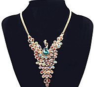 MPL Europe and the United States exaggerated exquisite peacock diamond necklace