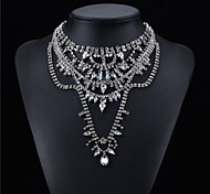 Zinc Alloy Plated With Cubic Zirconia Fashion Necklace