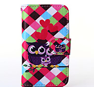 Love Owl Pattern PU Leather Full Body Case with Stand for Alcatel One Touch POP C3