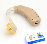 New Rechargeable Hearing Aids Audiphone Behind Ear Acousticon US Adapter