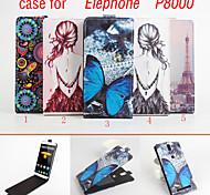 cuir flip étui de protection magnétique pour P8000 de Elephone (couleurs assorties)