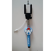 cartoon selfie stok blue tooth&Bluetooth Remote shutter voor iOS / andr OID (willekeurig patroon levering)