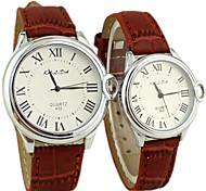 Couple's Fashion Style Roman numeral Quartz Analog Wrist Watch