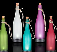 Pack of 5 Solar Bottle Lamp LED Decoration Light Interspersion Pendant Light Multicolor