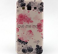 Black Flowers Pattern TPU Material Phone Case for Samsung  Galaxy A3 A5