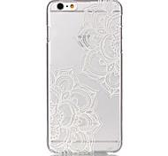 Modelo de flor hueca ultrafina caso duro para el iphone 6 más