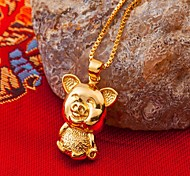 24K gold plating  pig  Pendant(not including necklace)
