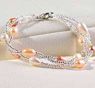 brazalete de perlas cadena de la mujer