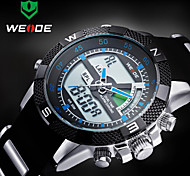 WEIDE Men Sporty Analog Digital Watch Rubber Strap Stopwatch/Alarm Backlight/Waterproof