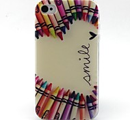 matita modello cuore materiale TPU soft phone per iphone 4 / 4s