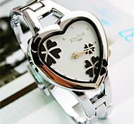 fahion herzförmige Mineralglas koreanischen Damen Quarz Armband Uhr (lila, weiß, rückseite, pink) (1pc)
