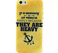 Yellow Theme Pattern TPU Painted Soft Back Cover for iPhone 5/5S