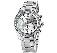 Women's Round Diamante Case Steel Band Analog Quartz Fashion Watch (Assorted Colors) Cool Watches Unique Watches