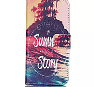 Summer Story Pattern PU Leather Phone Case For iPhone 6