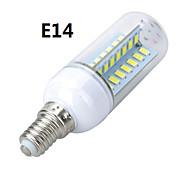 marsing® e14 / e27 diseño cruzado 10w 900lm 56 x 5730 SMD llevó la lámpara caliente fría / blanco bulbo del maíz de luz - (ac 220v)