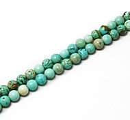 Beadia 39Cm/Str (Approx 48Pcs) Natural Turquoise Beads 8mm Round Stone Loose Beads DIY Accessories