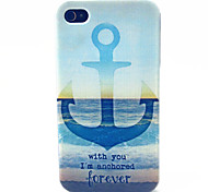 Sea Anchor Pattern TPU Material Phone Case for iPhone 4/4S