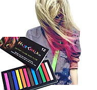 Temporary 12 Color Chalk Crayons for Hair Non-toxic Hair Dye Pastels Stick DIY Styling Tools