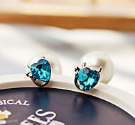 HUALUO®Cute Little Kitty Delicate Pearl Earrings