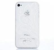 Weiß-Druck-Muster-TPU Material Telefonkasten für iphone 4 / 4s
