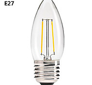 ON B22/E26/E27 4.5 W COB 400 LM Warm White A Dimmable/Decorative LED Filament Lamps AC 220-240/AC 110-130 V