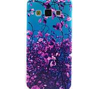 lila Blumen-Muster TPU Telefonkasten für Samsung-Galaxie a3 a5
