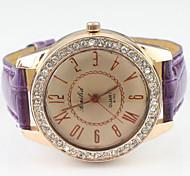 das mulheres do relógio de forma diamante luxo mostrador redondo