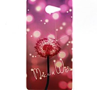Dandelion Pattern TPU Material  Phone Case for Sony Xperia M2