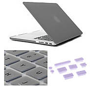 Best Quality Solid Color Grind Arenaceous MacBook Case with Keyboard Cover and Anti-dust Plugs for MacBook Air 13.3 inch