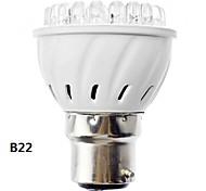 b22 / e27 3w llevado-38 120-155lm 3000-3500K cálida luz blanca Bombilla led puntual (110-240v)