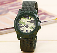 A Simple Digital Camouflage Cloth Cloth Round Disc China Watch Movement(Assorted Colors)