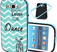 dans ribbelpatroon kunststof / TPU 2 in 1 ontwerp Cover Case voor Samsung Galaxy S3 / S4 / s3 mini / mini s4 / s5 mini