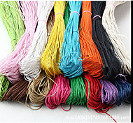 Beadia 60M/Lot  Fashion 1.5mm Waxed Cotton Cord  Necklace Beading String 11 Colors U-Pick