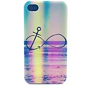 Painted 8 Pattern PC Material Phone Case for iPhone 4/4S